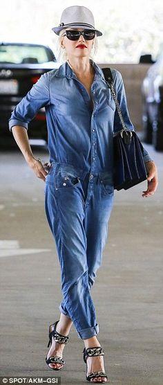 Gwen Stefani's denim jumpsuit