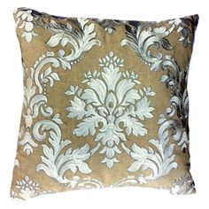 Corsana Silver Throw Pillow @LaylaGrayce