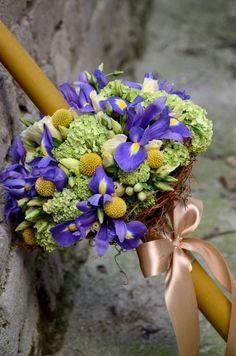 Candels, Christening, Floral Wreath, Bouquet, Wreaths, Wedding, Baby, Decor, Wedding Bride