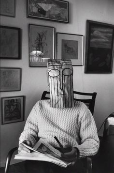 "nekasuz: "" Inge Morath, Untitled from the Mask Series with Saul Steinberg, 1961-1962 theredlist """