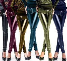 SALE % LEGGINGS WET LOOK LEGGINS GLANZ LEDER METALLIC HOSE NEU 34/36 38/40 in Kleidung & Accessoires, Damenmode, Hosen | eBay