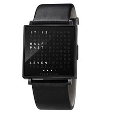"""The world's first wristwatch in words"""", QLOCKTWO W by Biegert & Funk does away with all of that numbers nonsense."""