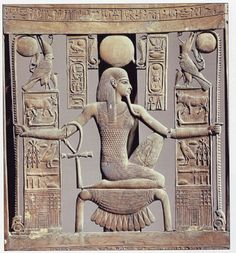 #10 This Ancient Egyptian Art depicts the pastiche, a false beard symbolizing deity, and a corselet. The corselet is a type of armor.