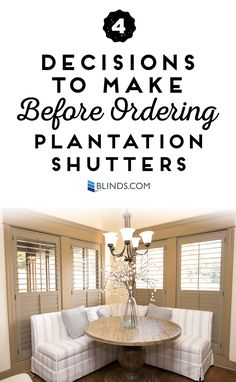 Custom Plantation Shutters are available with lots of exciting options so you can fit your home's style perfectly. Before you place your order, consider these 4 options for customizing your shutters. Shutters Inside, Cafe Shutters, Interior Window Shutters, Wooden Shutters, Interior Windows, Indoor Shutters, Window Treatments Living Room, Living Room Windows, Living Rooms