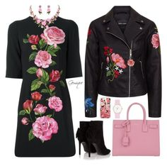 """Roses, Roses "" by gemique ❤ liked on Polyvore featuring Dolce&Gabbana, Yves Saint Laurent, Laruze, Miss Selfridge and Casetify"
