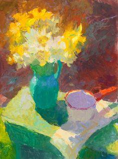 John Ebersberger: Daffodils and Turquoise