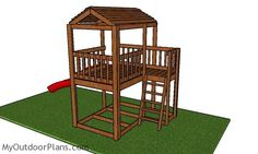 This step by step diy woodworking project is about outdoor fort plans. I have designed this super simple fort so you can build one in the weekend, using basic materials and tools. Metal Pergola, Cheap Pergola, Diy Pergola, Pergola Kits, Pergola Plans, Pergola Garden, Garden Trellis, Wooden Pergola, Small Pergola