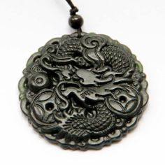 Dark Color Jasper Stone Carved Fortune Dragon Amulet Pendant ovalbuy. $3.99. Pendant size: 48mm x 48mm; Material: stone; With Silk cord for necklace; With jewelry pouch