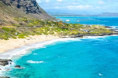 View of the #beach from Makapuu Lighthouse Trail. #gohawaii #Hawaii #MyHometownPins