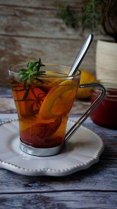 Herbata z różą i rozmarynem Magic Recipe, Sangria, Mug Cup, Moscow Mule Mugs, Drinking Tea, Tea Time, Herbalism, Tea Cups, Smoothie