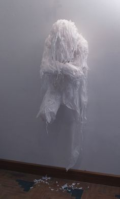 Khalil Chishtee' Plastic bag Sculptures