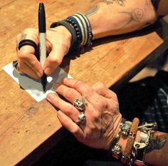 "(@jerriedepp) on Instagram: ""Here's a photo of God dad's hand it's a New photo taken by @canitakethepicture, god dad's signing…"""