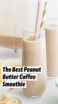 Peanutbutter Smoothie Recipes, Protein Smoothie Recipes, Low Carb Smoothies, Healthy Juice Recipes, Healthy Juices, Smoothie Drinks, Healthy Peanut Butter Smoothie, Breakfast Protein Smoothie, Healthy Drinks