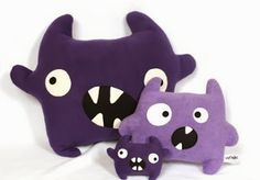 Cushions Beautiful Monster. Ideal for gift and decorating   innocence creations