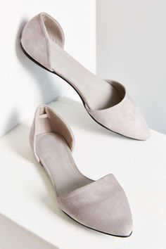 Suede D'Orsay Flat #UrbanOutfitters