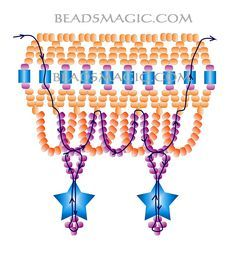 Free pattern for necklace Firework Ruffles | Beads Magic U need: seed beads 11/0 or 15/0 miyuki cube beads star drops beads (PAGE 3 OF 3)