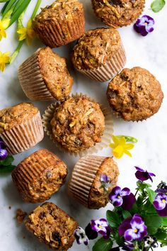 Morning Glory Muffins - Cooking Classy - My Recipe Magic Protein Muffins, Healthy Muffins, Healthy Meals For Two, Easy Healthy Breakfast, Healthy Snacks For Kids, Healthy Eating, Morning Glory Muffins, Breakfast Bowls, Breakfast Recipes