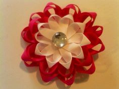 Loopy 3 layer flower hair clip