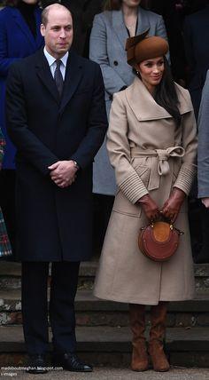 His Royal Highness The Duke of Cambridge and Ms Megan Markle on Christmas day 25/12/17.