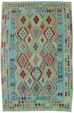 Flatwoven Rugs - Tribal Designs Gallery: Afghan Kilim Rug, Hand-woven in Afghanistan; size: 6 feet 8 inch(es) x 10 feet 1 inch(es)