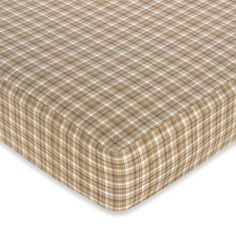 product image for Sweet Jojo Designs Teddy Bear Fitted Crib Sheet in Plaid