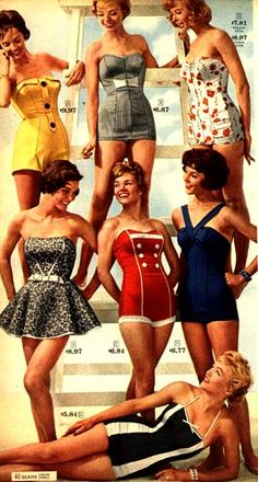 Sears bathing suit catalog page, 1959.