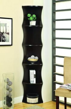 Shop Coaster Furniture Cappuccino 5 Tier Corner Bookcase with great price, The Classy Home Furniture has the best selection of Bookcases to choose from Wooden Bookcase, Wood Shelves, Open Shelves, Floating Shelves, Tall Corner Shelf, Corner Unit, Small Corner, Cozy Corner, Corner Desk