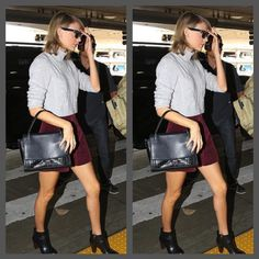"""@taylorswift spotted carrying the #elizabethandjames Charlie Satchel. #wildestdreams"""