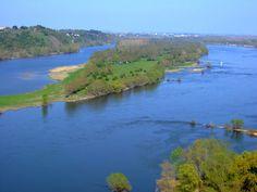 La Vallée de la Loire et l'île Neuve depuis Champtoceaux