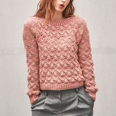 Strikkekit dame - Find moderigtige dame strikkekits her > Producent Sandnes Mohair Sweater, Wool Sweaters, Fair Isle Knitting, Baby Knitting, Easy Knitting Patterns, Kos, Knitwear, Knit Crochet, Sweaters For Women