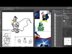 """learning how to draw our old buddy Donald and his super hero counterpart """"Phantomias"""" in preparation for a contest entry illustration entitled """"dark side of . Drawing Exercises, Learn To Draw, Learning, Drawings, Illustration, Art, Learn Drawing, Art Background, Studying"""