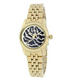Goldtone Petite Lexington Bracelet Watch by Michael Kors #zulily #zulilyfinds