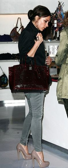 Victoria Beckham - these heels don't work in real life, but check out the bag and fabrics / materials