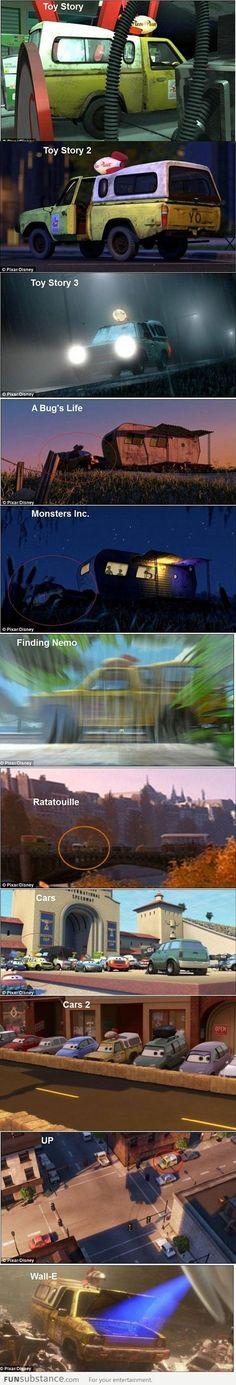 Pixar's Pizza Planet Van