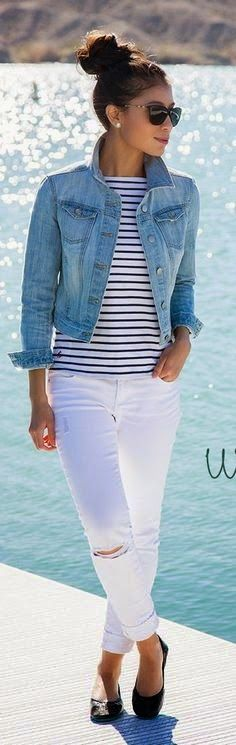 c9f32898d1 This Perfect ways to wear white denim jeans outfits 86 image is part from  95 Perfect Ways to Wear White Denim Outfits that You Must Copy gallery and  article ...