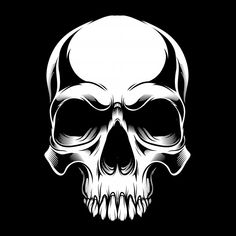 Skull Vector Hand Drawing Shirt Designs Biker Disk Jockey Gentleman Barber And Many Others Isolated And Easy To Edit Vector Illustration Vector Vector and PNG Black Background Design, Film Background, Vector Background, Vector Hand, Vector Vector, Memento Mori, La Coka Nostra, Image Clipart, Skull Art