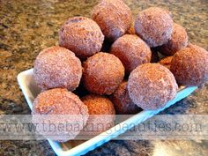 Gluten Free Pumpkin Spice Doughnut Holes     Ingredients      2 tablespoons butter, softened     1/2 cup granu...