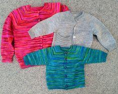 Ravelry: Top Down Basic Baby pattern by Angela Juergens Kids Poncho Pattern, Kids Knitting Patterns, Knitting For Kids, Baby Patterns, Baby Knitting, Finger Weights, Knit Crochet, Men Sweater, Sacks