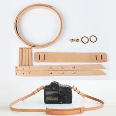 WUTA-kůže-Camera-Strap-Kit-Pre-cut-kožený vzor-for-hobby-rameno-Strap-CRA