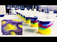 9 ACRYLIC POURS! Swirling Fluid Art - YouTube