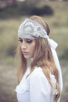 Casque nuptiale romantique cristaux Swarovski cheveux cheveux accessoire ceinture