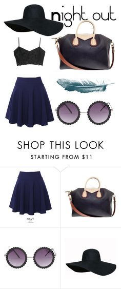 """Night out🍕"" by anyarae ❤ liked on Polyvore featuring QNIGIRLS, Givenchy and MANGO"