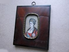 Antique 19thC Miniature Painting of a Queen, European Royalty