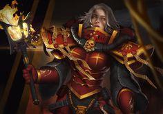 Order of the Bloody Rose by yangzheyy on DeviantArt Female Armor, Battle, Wonder Woman