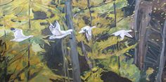 The Five Snow Geese by Francois Founier