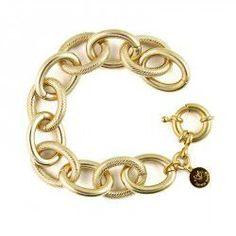 Lindsey Gold Link Bracelet - Pinklette