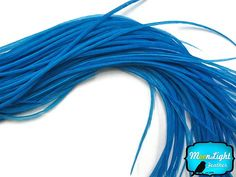 6 PCS - XL SOLID TEAL THIN Rooster Feathers