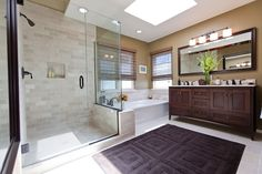 kohler archer Bathroom Traditional with bath mat ceiling lighting double sinks double