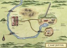 Once again...another map, this time of Rick Riordan's mirror image of Camp Halfblood for the Romans, Camp Jupiter...