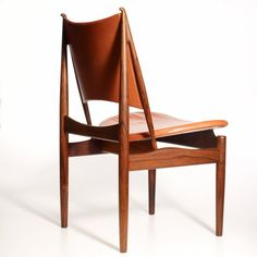 Furniture Design | Finn Juhl; Rosewood and Leather 'Egyptian' Chair for Niels Vodder, 1949.